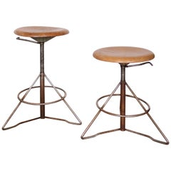 Elias Svedberg Up and Down Industrial Stool Sweden, 1950s