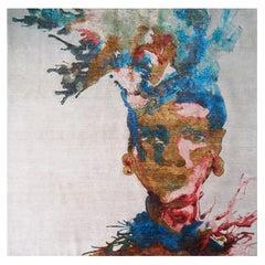 Makeda Wool and Silk Tapestry by Malene Barnett