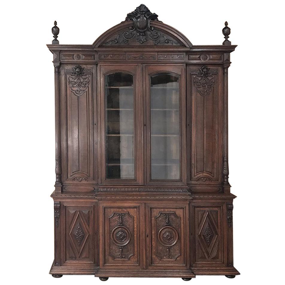 19th Century French Renaissance Grand Bookcase