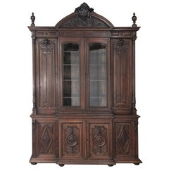 19th Century French Renaissance Grand Bookcase