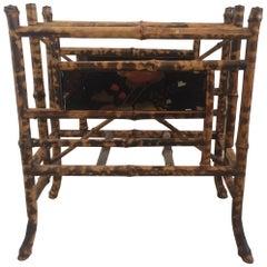 English Victorian Bamboo Magazine Rack