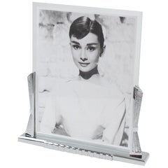 Large Art Deco Chrome Picture Frame