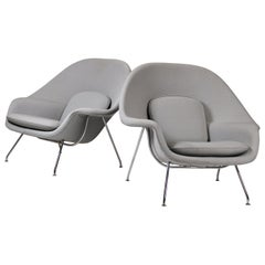 Pair of Knoll Womb Chairs Designed by Eero Saarinen