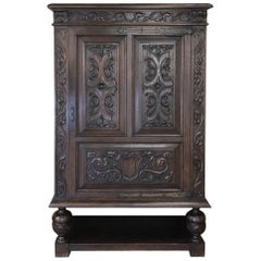 Antique French Renaissance Raised Cabinet