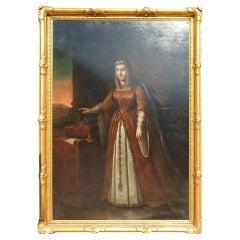 Italian Oil on Canvas Painting, 19th Century