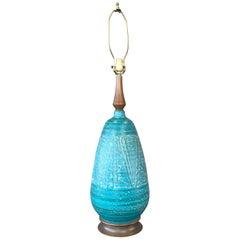 Monumental Blue/Green Ceramic Lamp