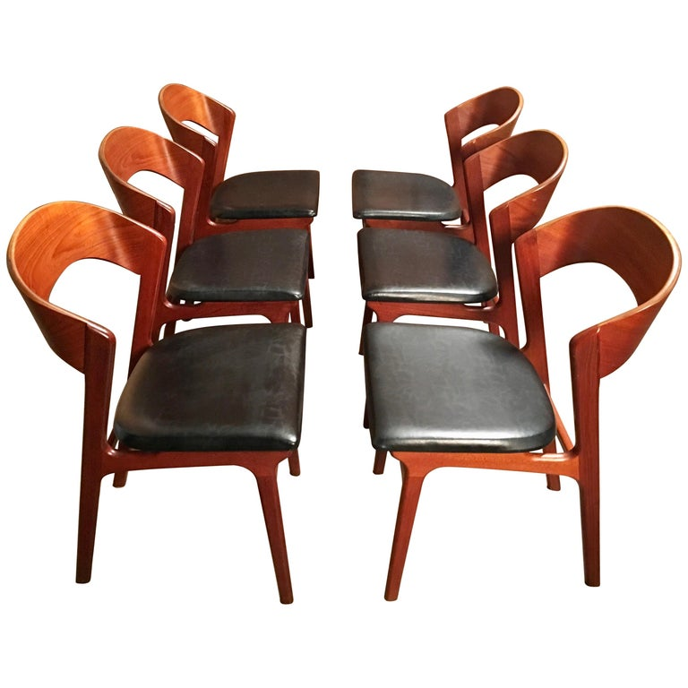 Sculptural Danish Modern Dining Chairs For Sale