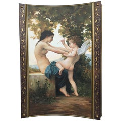 French Oil on Board Painting, after Bouguereau