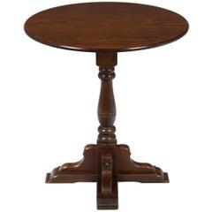 Small Oak Round Pub Style Side Accent Centre Table