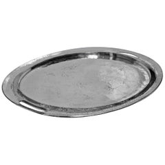 Large Liberty and Co Polished Pewter Tray, circa 1900