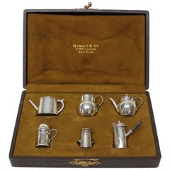 Collection of Miniature English Sterling Pepper Pots