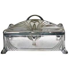 WMF Jugendstil Secessionist Silver Plate Jewelry Box Germany, circa 1906