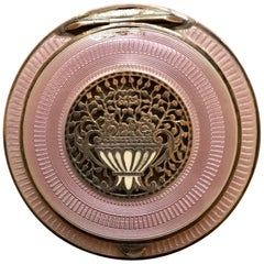 Austrian Silver and Guilloche Enamel Compact