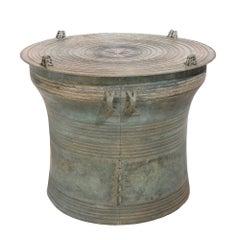 Burmese Bronze Karen Frog Rain Drum