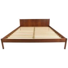 Danish Teak Oversized Queen Bed Frame