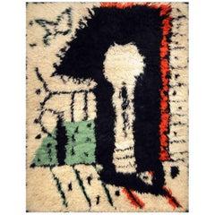 """Rare Rug Designed by Pablo Picasso, """"La Serrure,"""" circa 1955"""