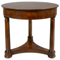 Empire Style Walnut and Ebonized Center Table