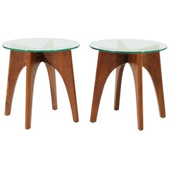 Adrian Pearsall Sculpted Walnut Side Tables for Craft Associates