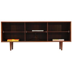 Danish Modern Rosewood and Glass Credenza by H.P. Hansen