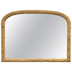 19th Century French Gilt Faux Bois Mirror
