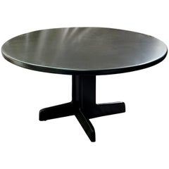 Gerald McCabe Round Pine Dining Table