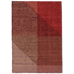 Nanimarquina Capas 1 Small Rug in Red by Mathias Hahn