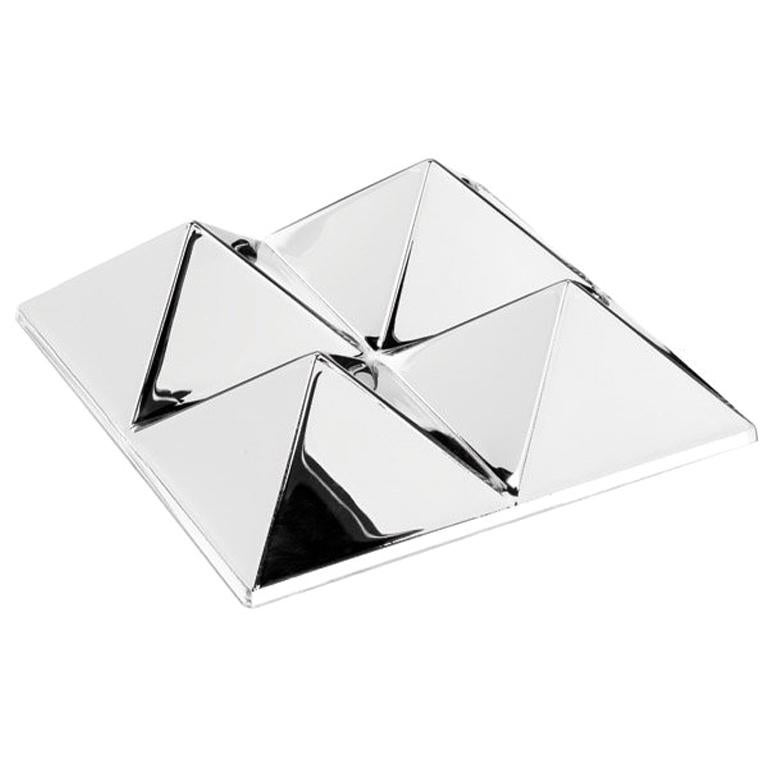 Mirror Sculpture, Four-Pyramid Wall Hanging by Verner Panton For Sale