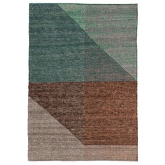 Nanimarquina Capas 2 Small Rug in Green and Brown by Mathias Hahn