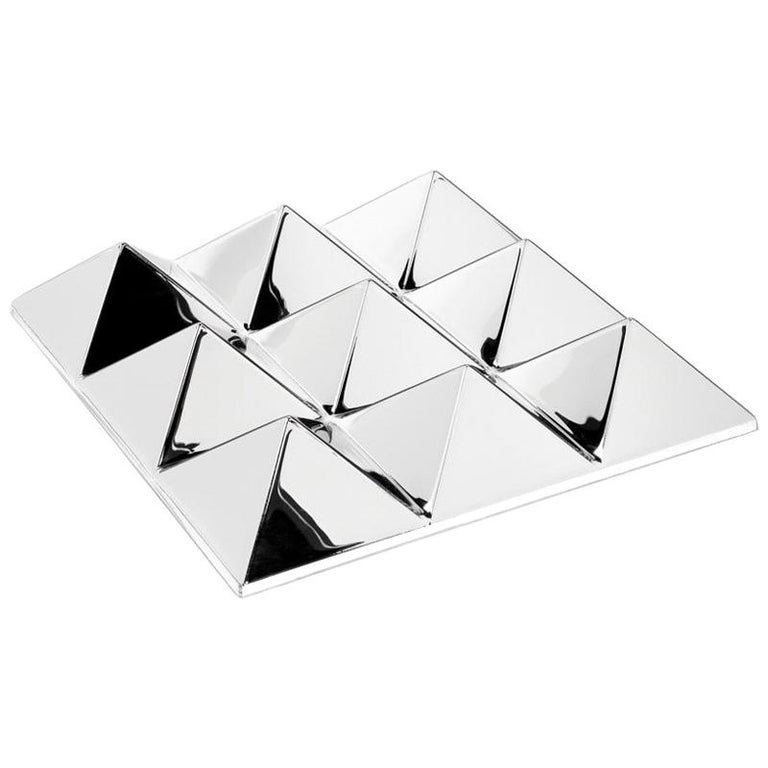 Mirror Sculpture, Nine-Pyramid Wall Hanging by Verner Panton For Sale