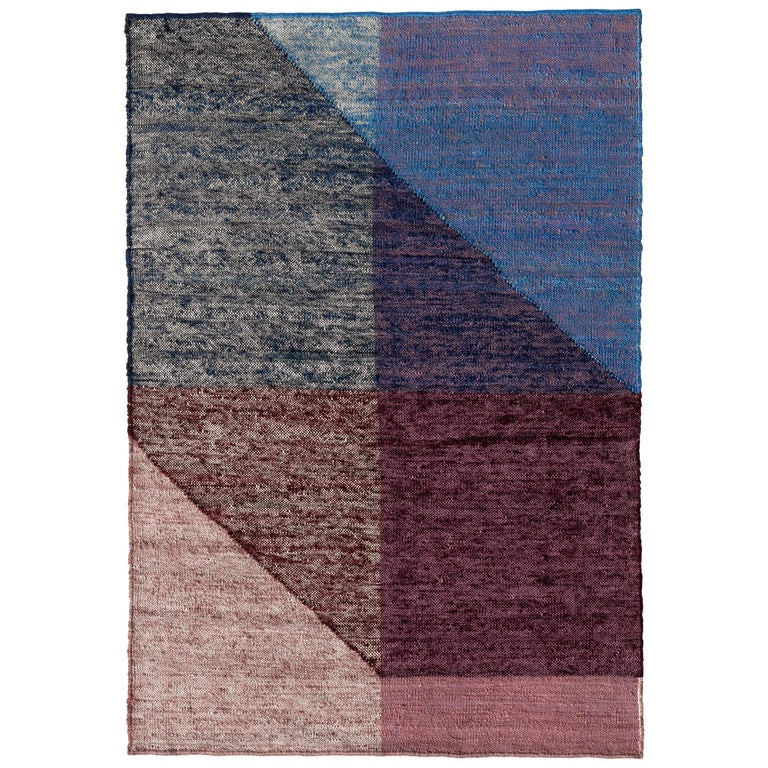 Nanimarquina Capas 3 Standard Rug in Blue by Mathias Hahn For Sale