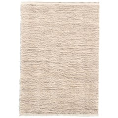 Nanimarquina Wellbeing Wool Chobi Rug in Ivory by Ilse Crawford
