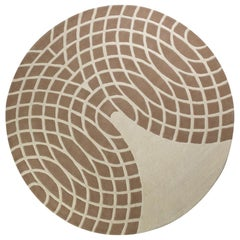 Grande Hand-Tufted Rug in Brown and Beige by Verner Panton