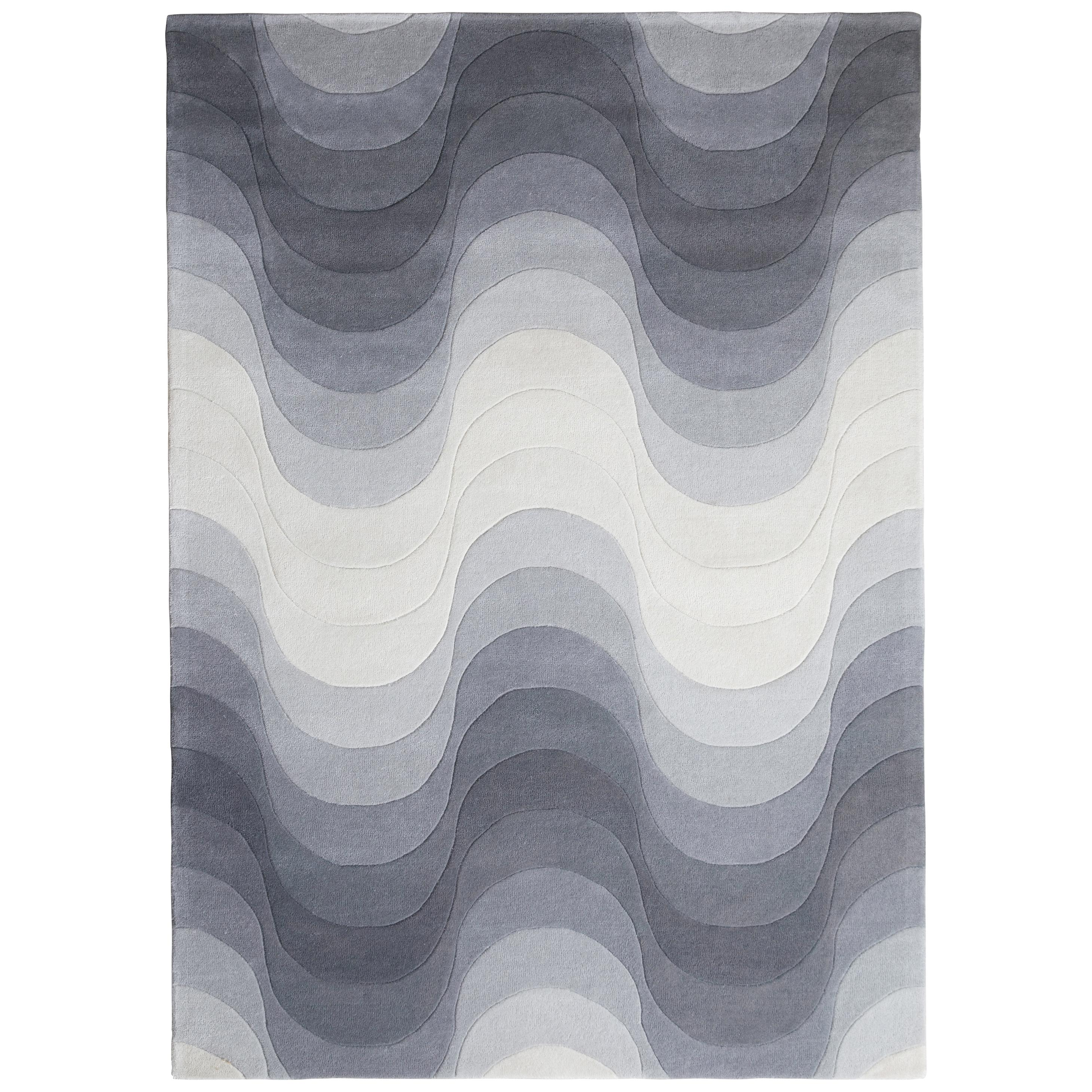 Wave Hand-Tufted Rug in Gray by Verner Panton