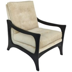 Adrian Pearsall Mid-Century Lounge Chair Restored and Upholstered in Velvet