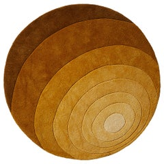 Luna Hand-Tufted Rug in Dark Yellow by Verner Panton