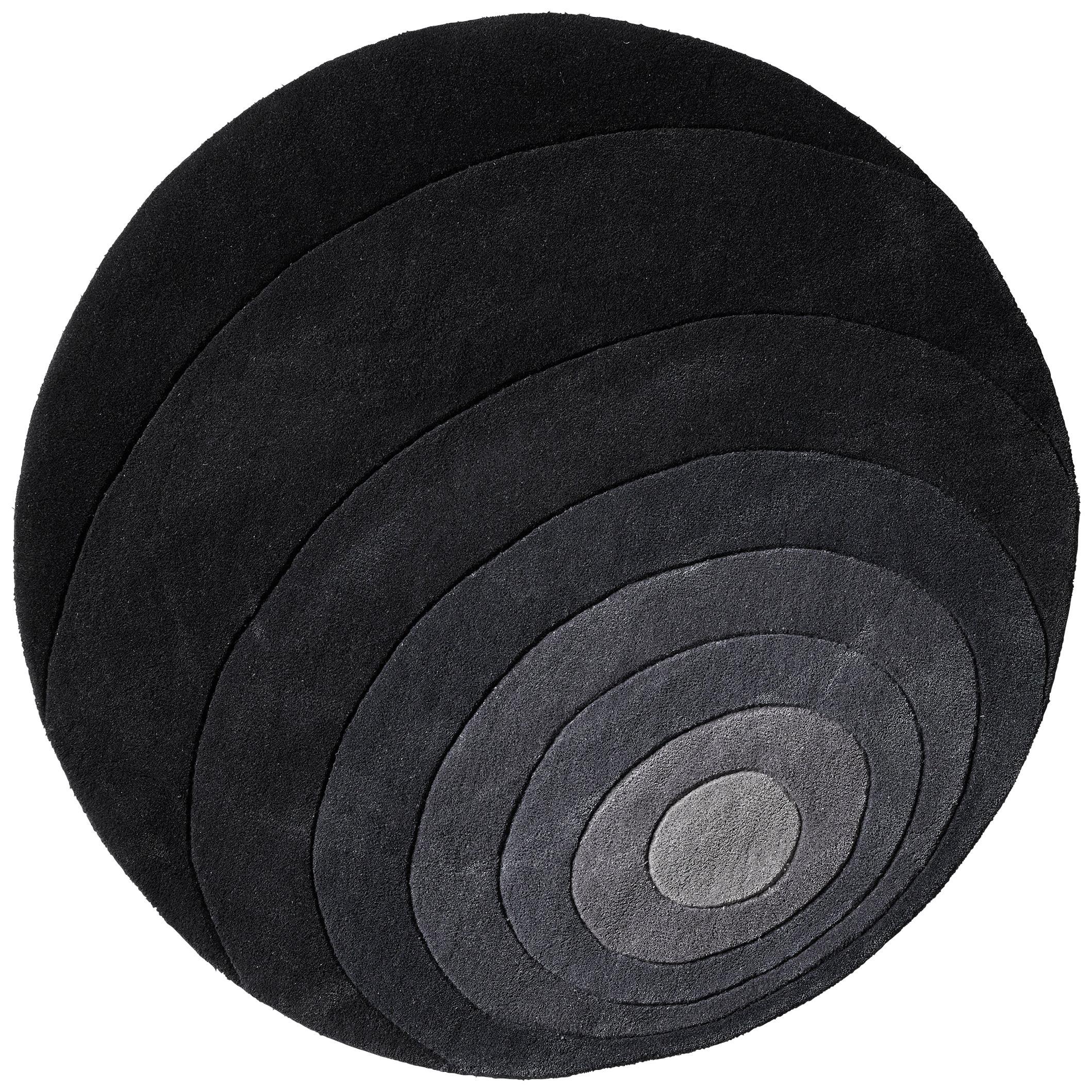 Luna Hand-Tufted Rug in Dark Gray by Verner Panton