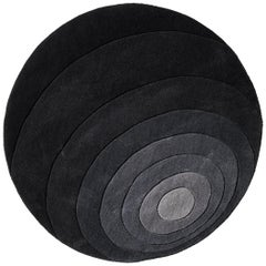 Luna Hand-Tufted Rug in Dark Gray by Verner Panton