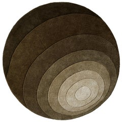 Luna Hand-Tufted Rug in Dark Green by Verner Panton