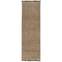 Nanimarquina Wellbeing Nettle Dhurrie Runner Rug in Brown by Ilse Crawford