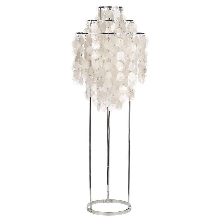 Fun 1stm Mother Of Pearl Floor Lamp By Verner Panton