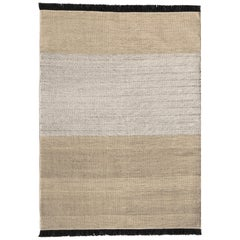Tres Outdoor Rug in Strip Black by Nani Marquina