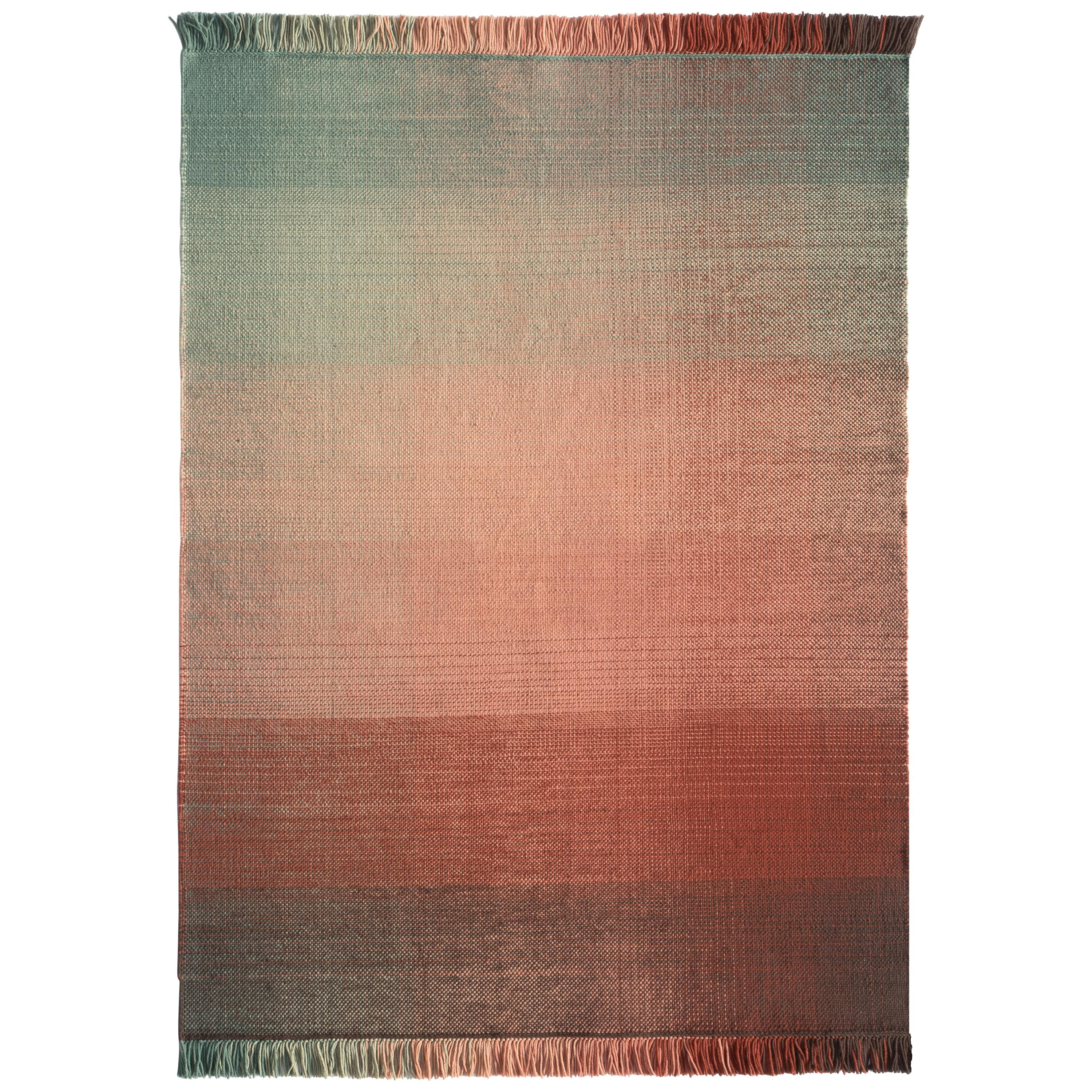 Nanimarquina Shade Outdoor Standard Rug 1 in Red & Green by Begüm Cana Özgür