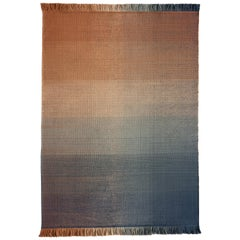 Nanimarquina Shade Outdoor Rug 2 in Blue and Orange by Begüm Cana Özgür
