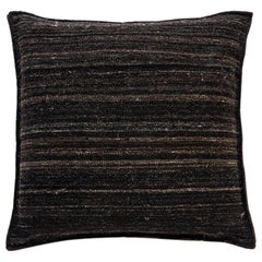 Nanimarquina Wellbeing Heavy Kilim Cushion in Black by Ilse Crawford