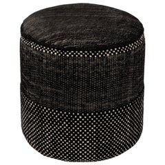 Tres Persian Pouf in Black by Elisa Padron and Marcos Catalan