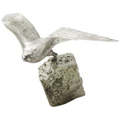 Vintage Sterling Silver Model of a Kestrel, 1983