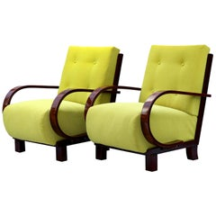 Pair of Art Deco Armchairs Fully Restored, circa 1930