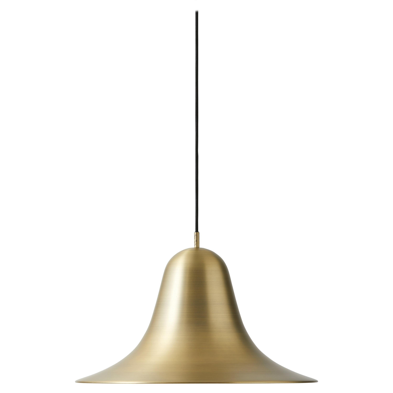 Pantop 45 pendant light in antique brass by verner panton
