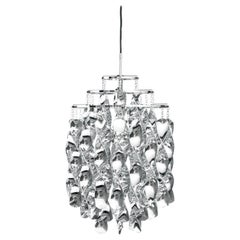 Spiral Mini Pendant Light in Chrome by Verner Panton