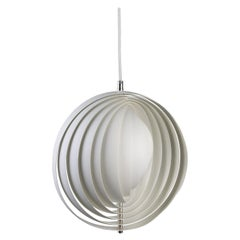 Moon Pendant Light in White by Verner Panton